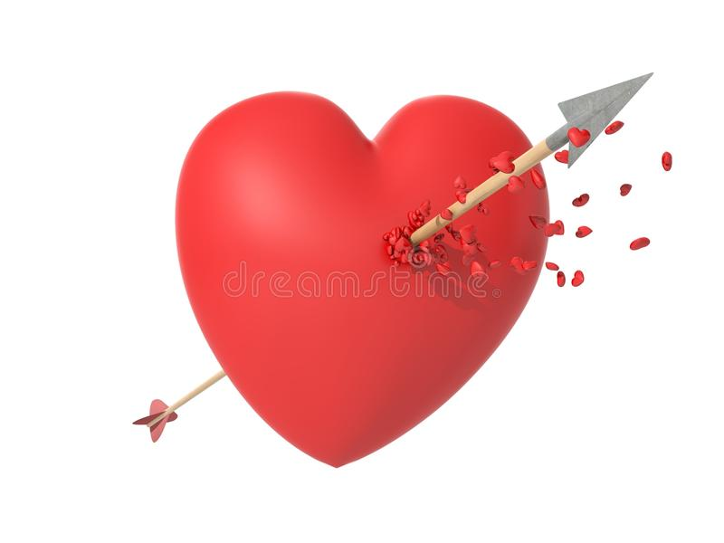 Smitten Heart In Love At First Sight Stock Image