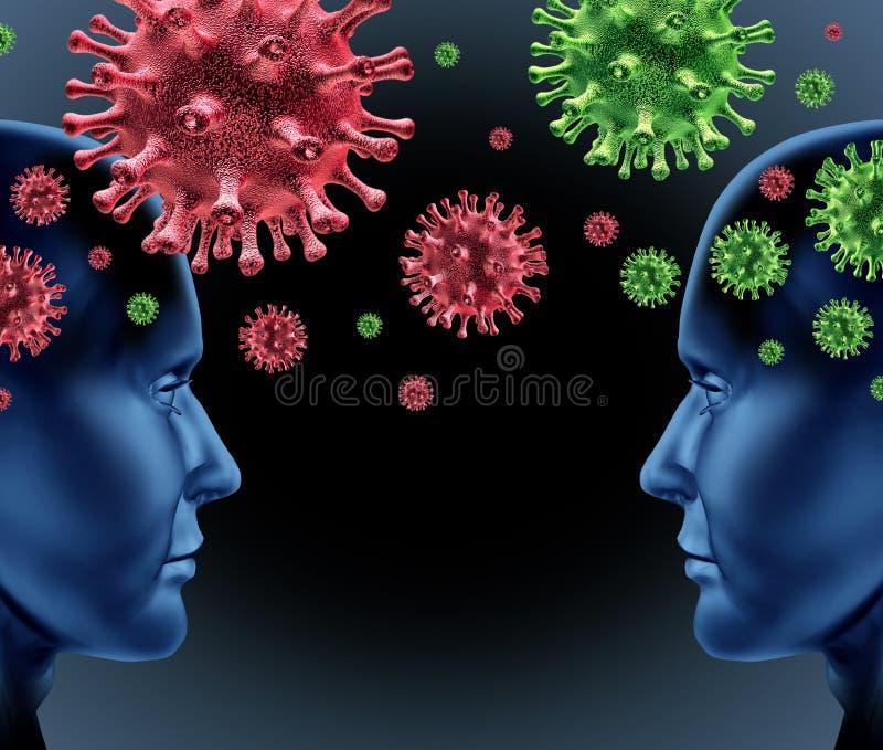 smittsam sjukdom stock illustrationer