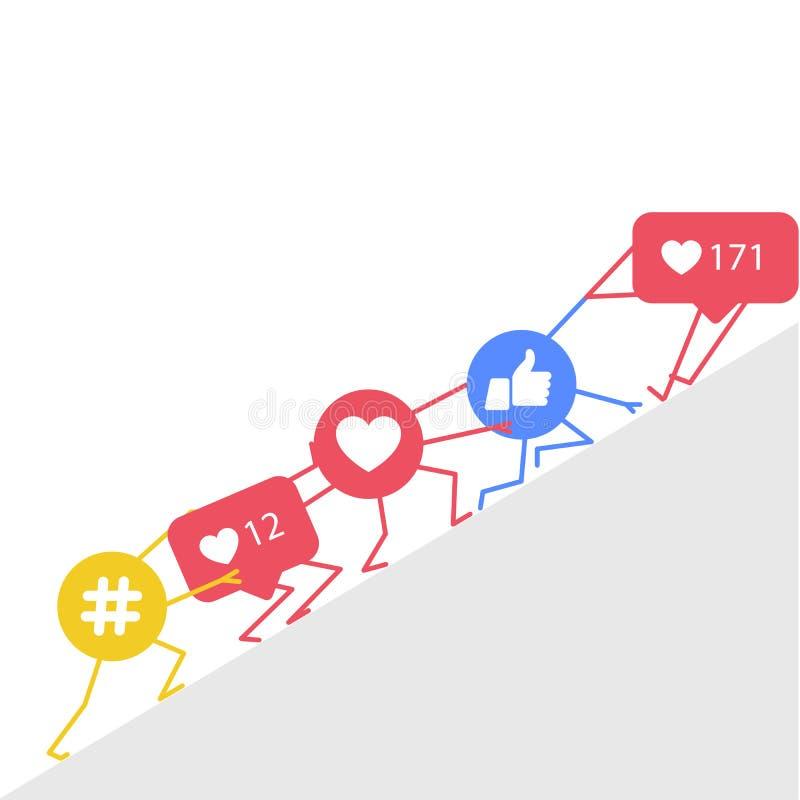 Smm promocja, marketing i -, ilustracja wektor