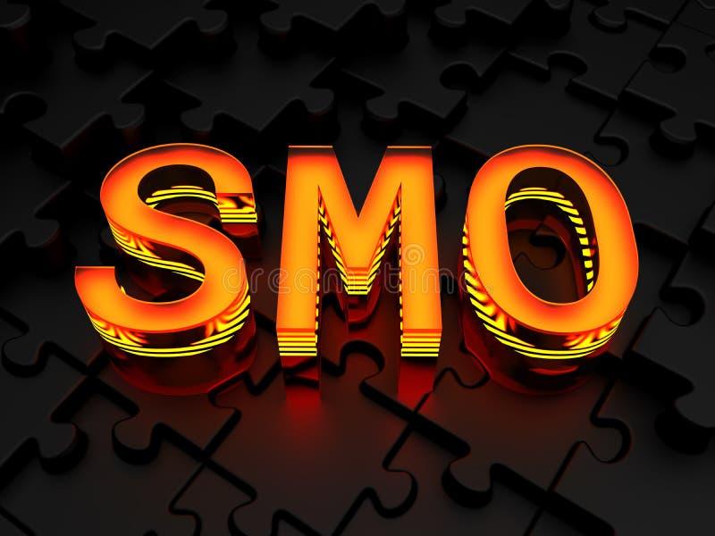 SMO - Sociale media optimalisering stock illustratie