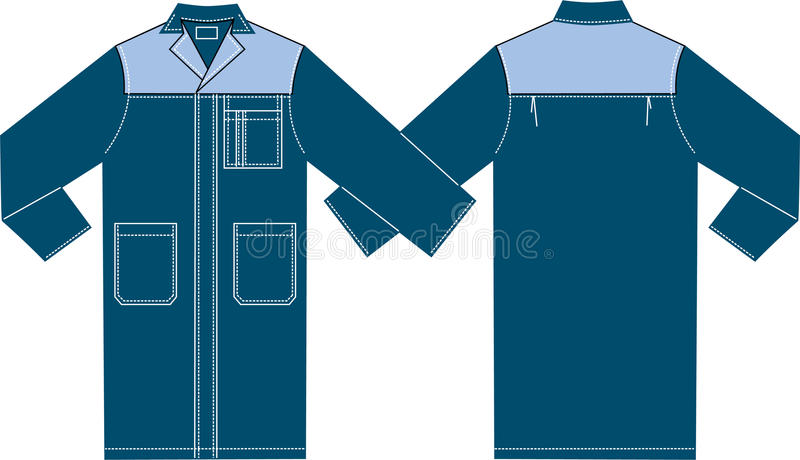 Download Smock stock vector. Image of overall, drawn, stitch, white - 25194176