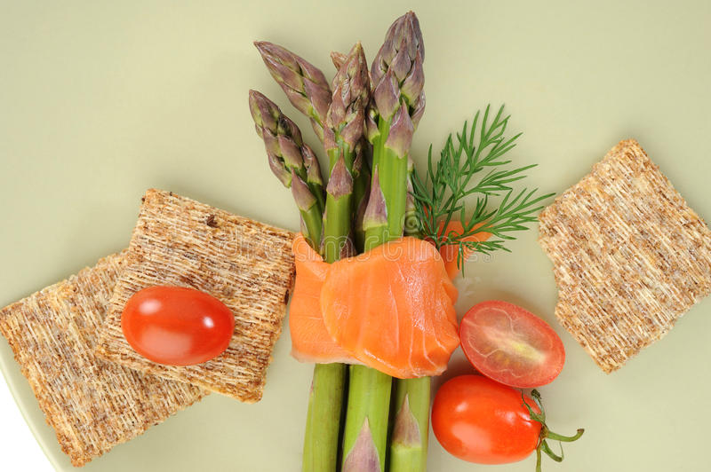 Download Smocked Salmon And Asparagus Stock Image - Image: 16151357