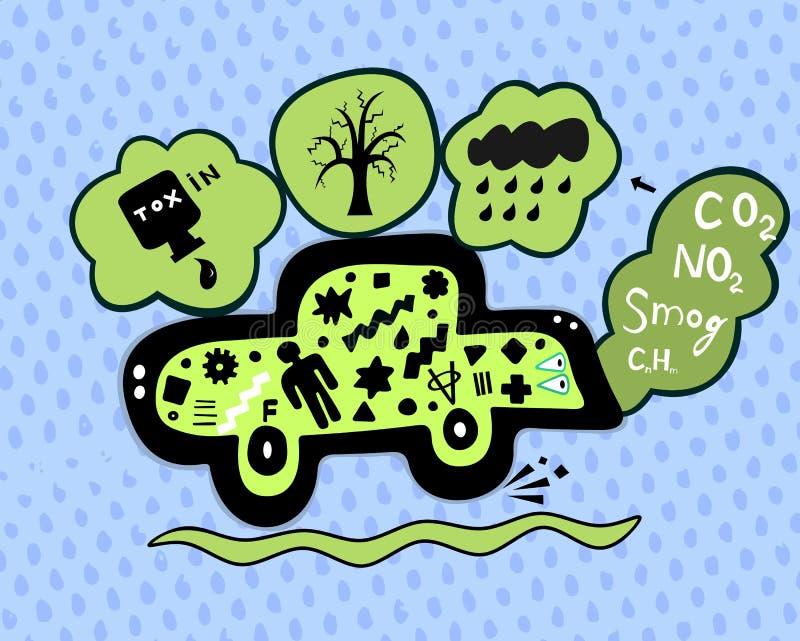 Smog vektor illustrationer