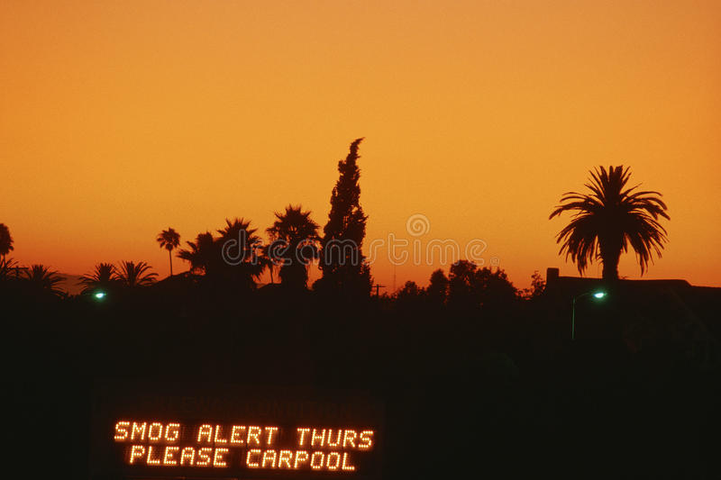 Smog Alert Sign Editorial Photography