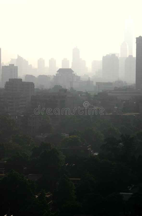 Download Smog in China stock image. Image of construction, buildings - 7468957