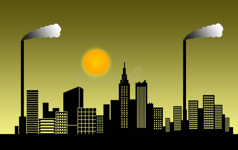 Download Smog city stock illustration. Illustration of atmosphere - 18415690