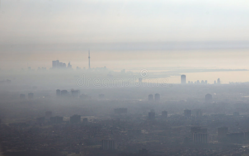 Smog City royalty free stock images