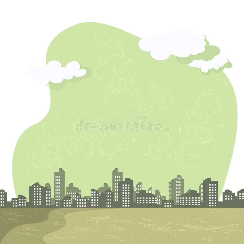 Download Smog on city stock vector. Image of illustration, future - 23329211