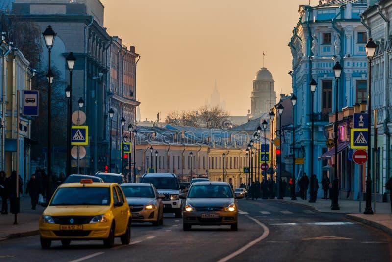 Smog in Moskau, Russland Donnerstag, Nov. 20, 2014 Wetter: Sun, s stockbilder