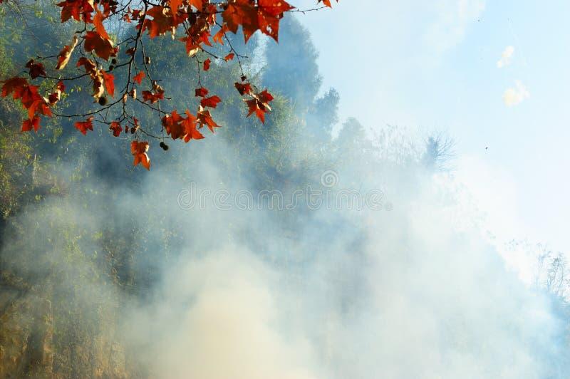 Smog nahe dem Hügel stockfotos