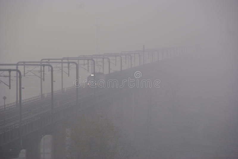 Smog in Oost-China stock afbeeldingen