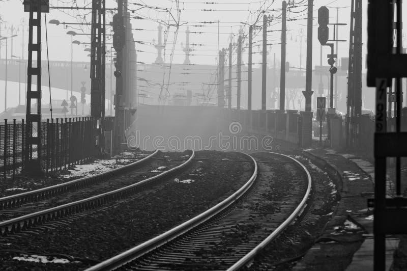 Smog over Boedapest wordt geregeld dat stock afbeeldingen
