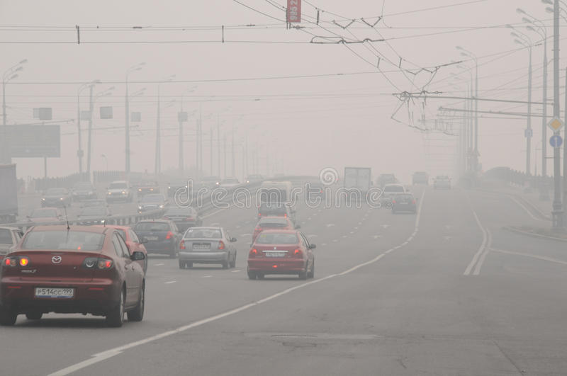 Download Smog Over The Bridge In Moscow Editorial Image - Image: 15517900