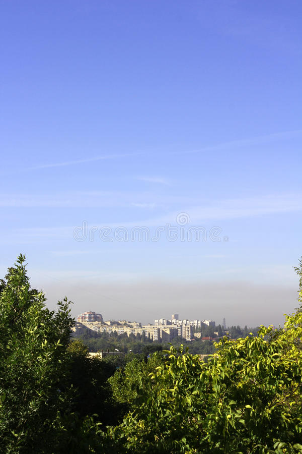 Smog Over The City Royalty Free Stock Photos