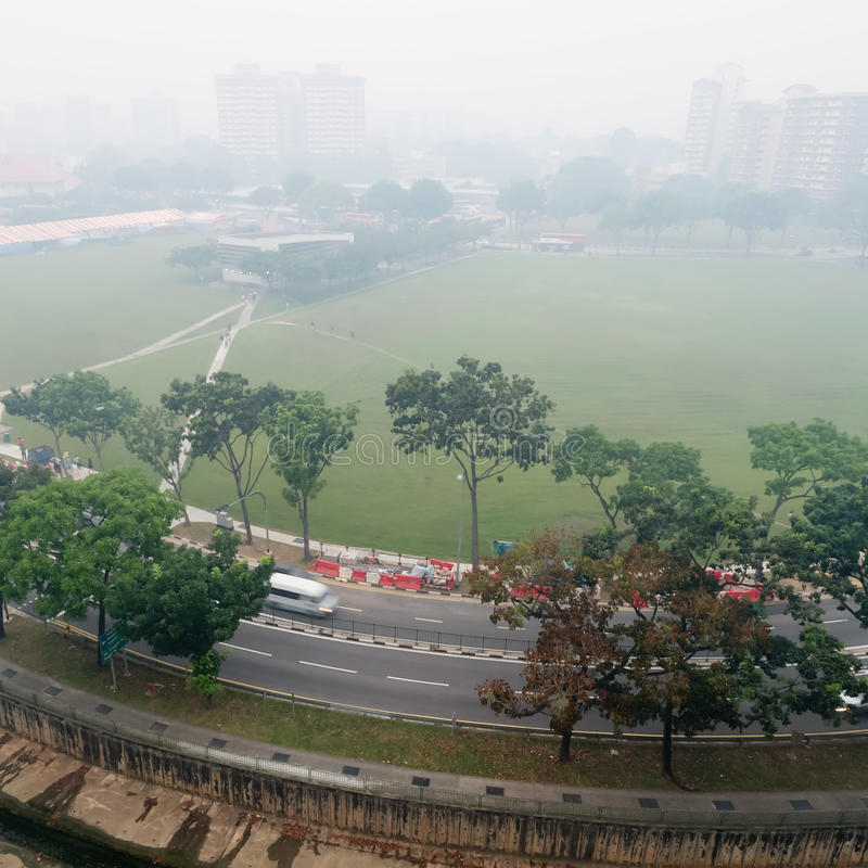 Download Smog Over Housing Estate In Singapore Editorial Stock Image - Image: 31736504