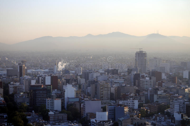 Download Smog over Mexico City stock image. Image of downtown - 20150007