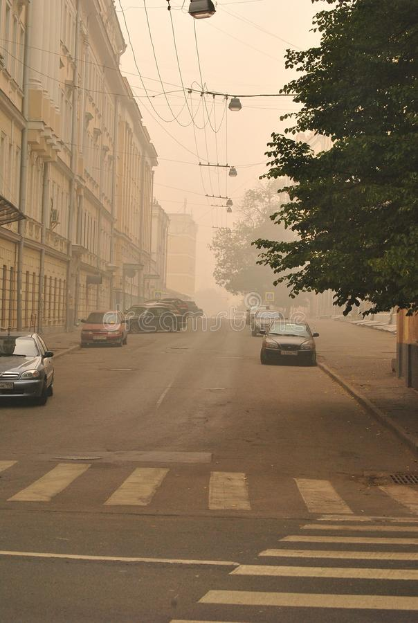 Smog Over Moscow Editorial Photo