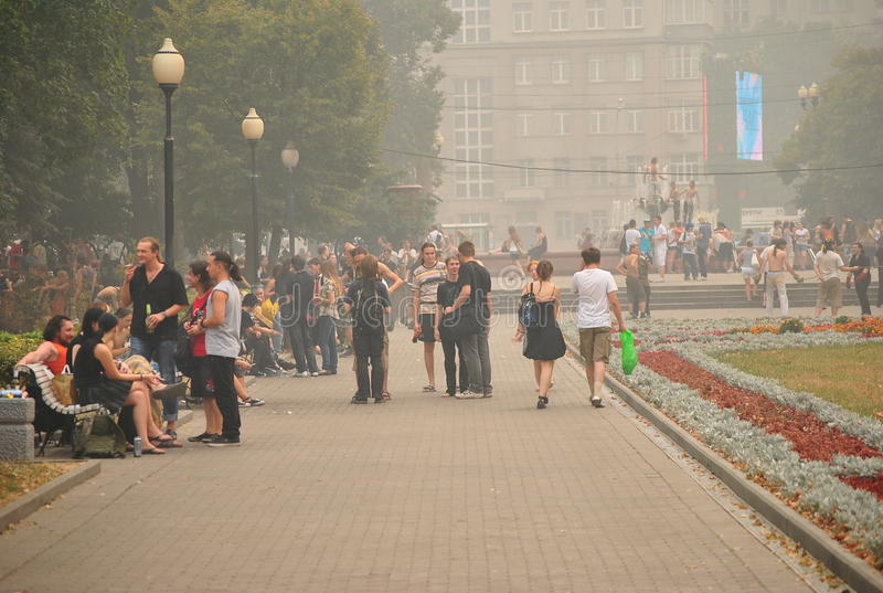 Download Smog over Moscow editorial photo. Image of moscow, smoke - 27101076