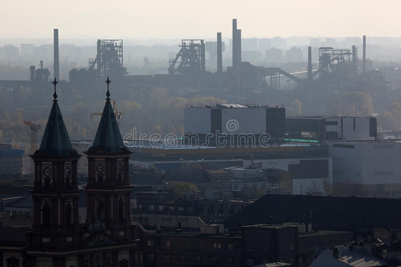Download Smog over Ostrava stock image. Image of trade, chimney - 23206543
