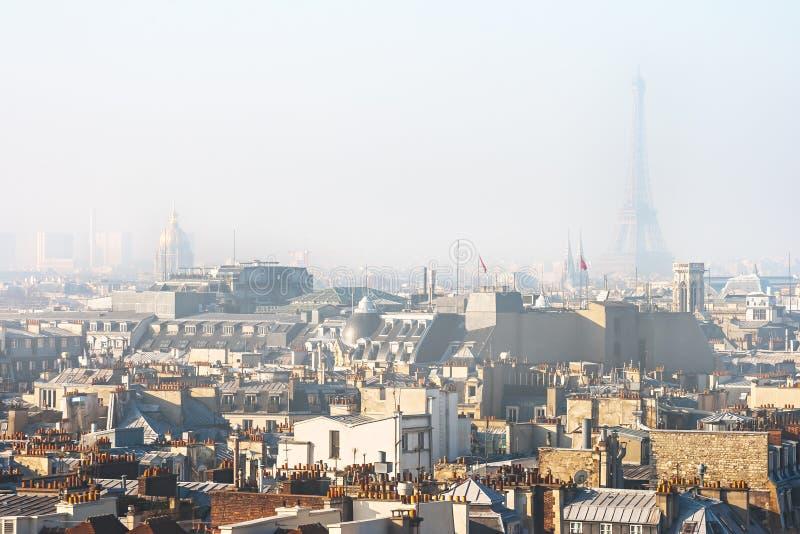 Smog Over Paris royalty free stock image