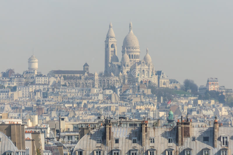 Smog in Paris lizenzfreies stockfoto