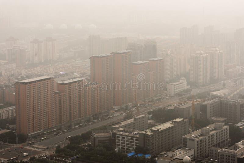 Smog pesante a Pechino immagine stock