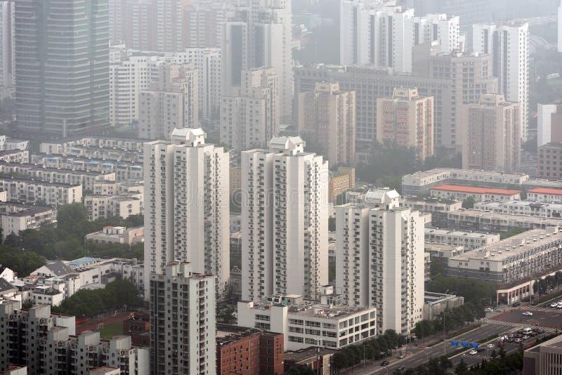 Smog pesante a Pechino immagini stock libere da diritti