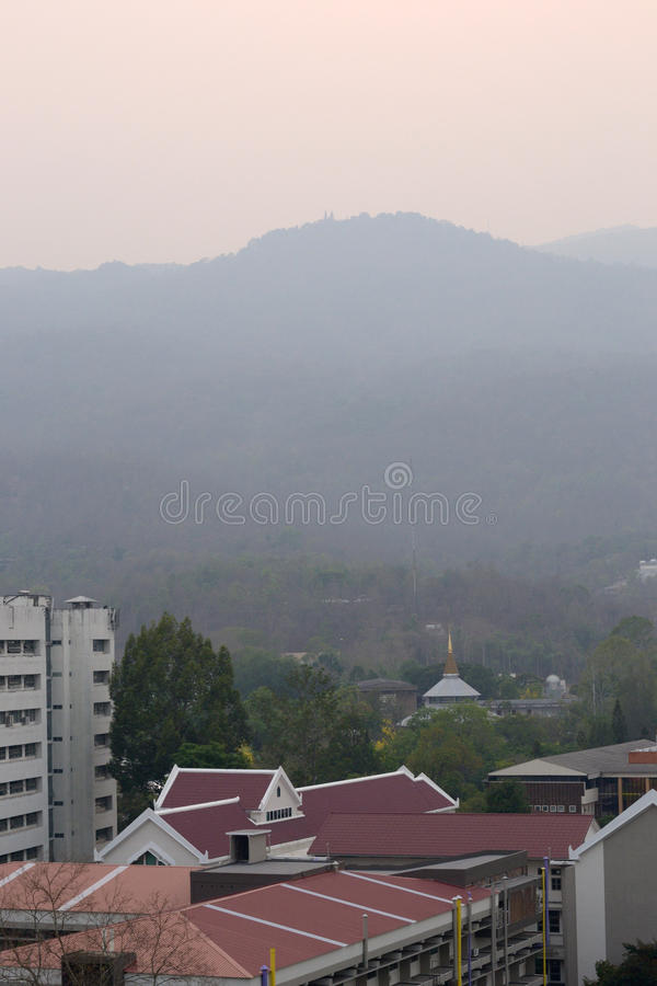 Smog problem in Chiang Mai stock image
