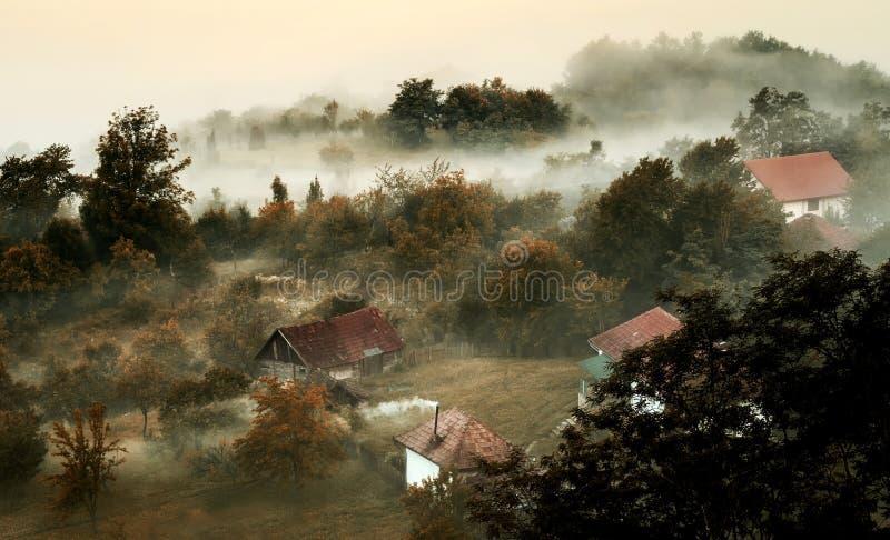 Smog und Nebel lizenzfreies stockbild