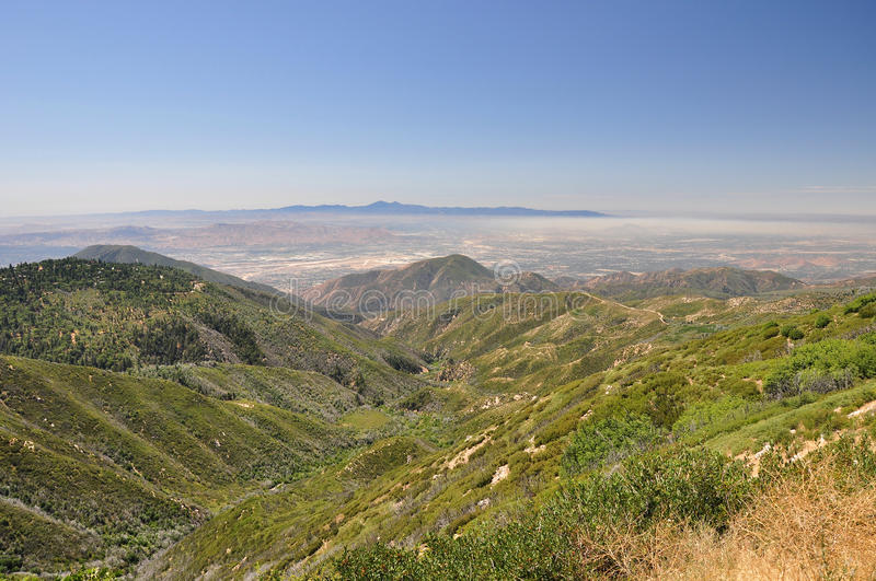 Smog In The Valley Royalty Free Stock Photography
