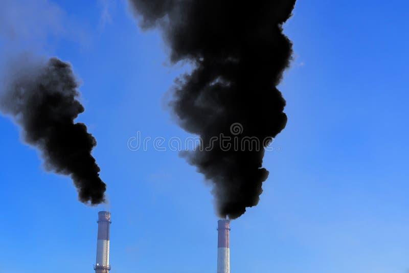Smog, Verschmutzung der Natur lizenzfreies stockbild