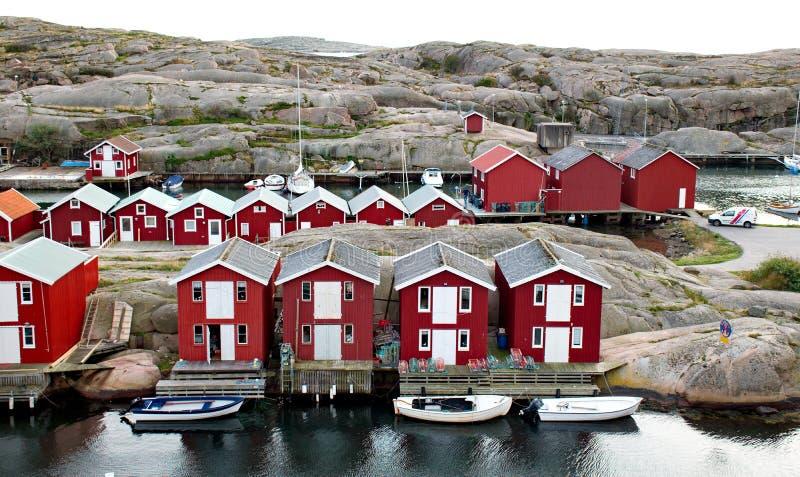 Smogen es una pequeña ciudad del pescador fotografía de archivo libre de regalías