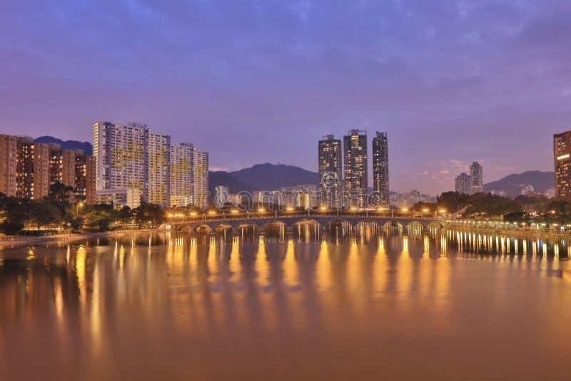 Smogverschmutzung in Sha-Zinn, Hong Kong lizenzfreie stockbilder