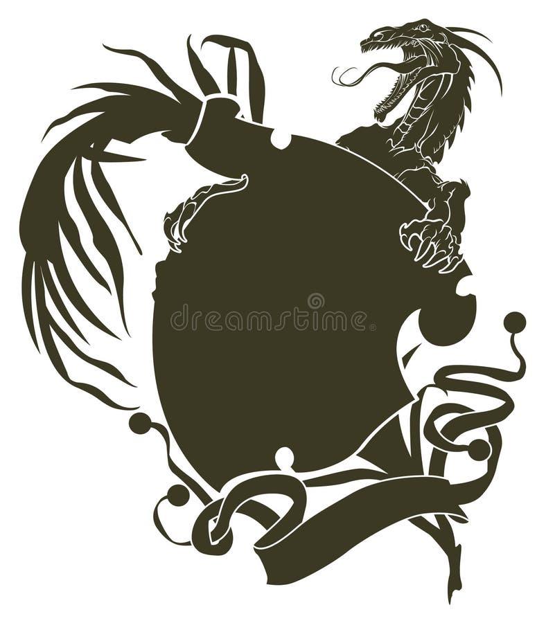 smoków tatuażu szablony ilustracja wektor