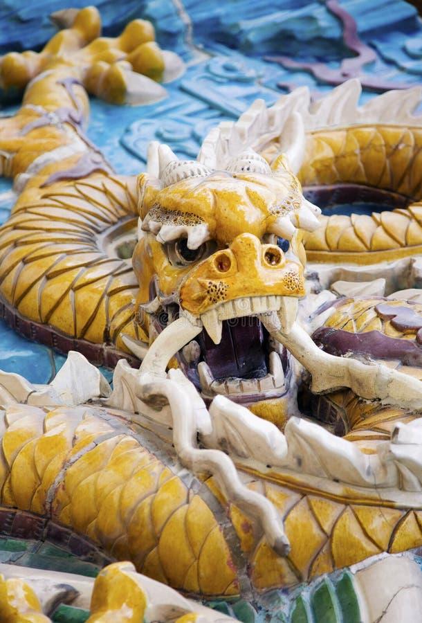 smok chińska statua zdjęcie royalty free