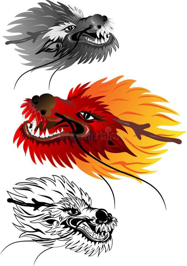 smok głowa ilustracji