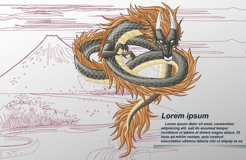 Smok jest fantazji zwierzęciem w kreskówka stylu ilustracja wektor