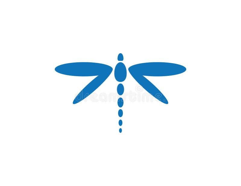 Smok komarnicy logo ilustracja wektor