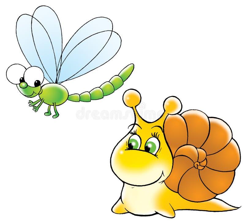 smok muchy ślimak ilustracji