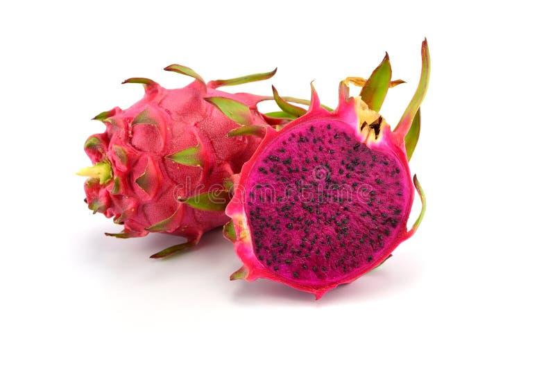 Smok owoc odizolowywająca na białym tle (Pitaya owoc) zdjęcie stock