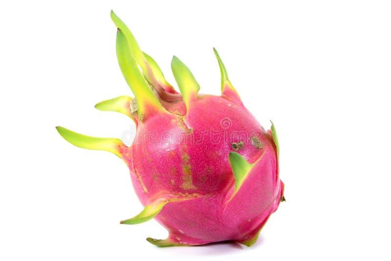 Smok owoc odizolowywaj?ca na bia?ym tle Świeża różowa smok owoc odizolowywająca obrazy stock