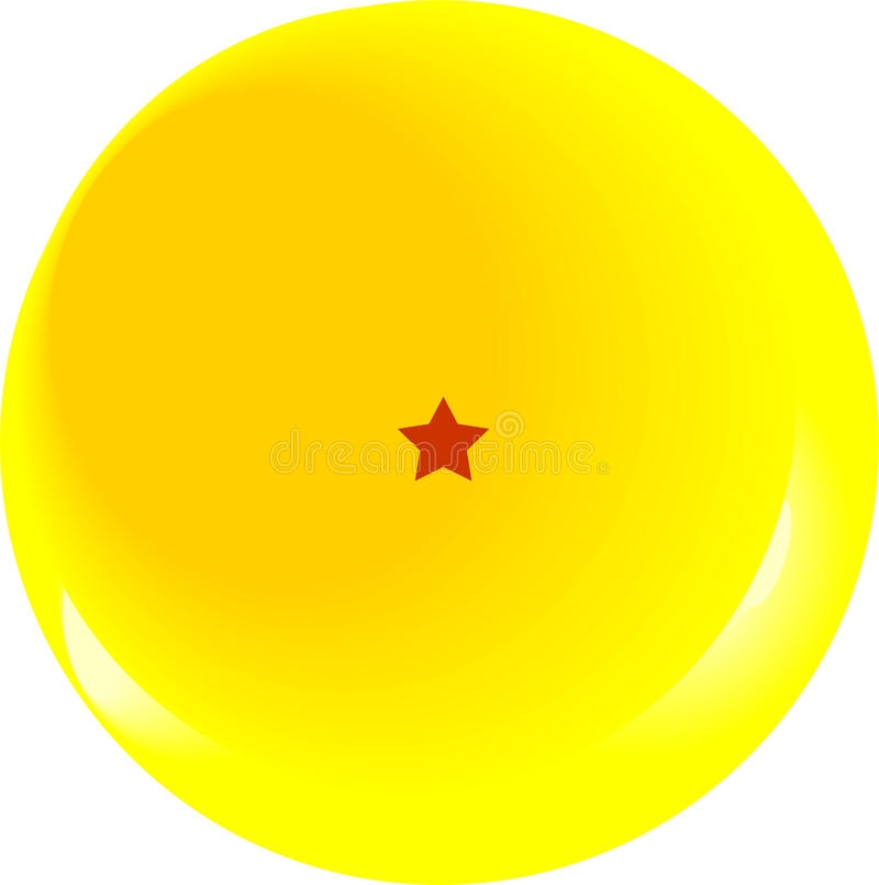 Smok piłki gwiazda jeden obrazy stock