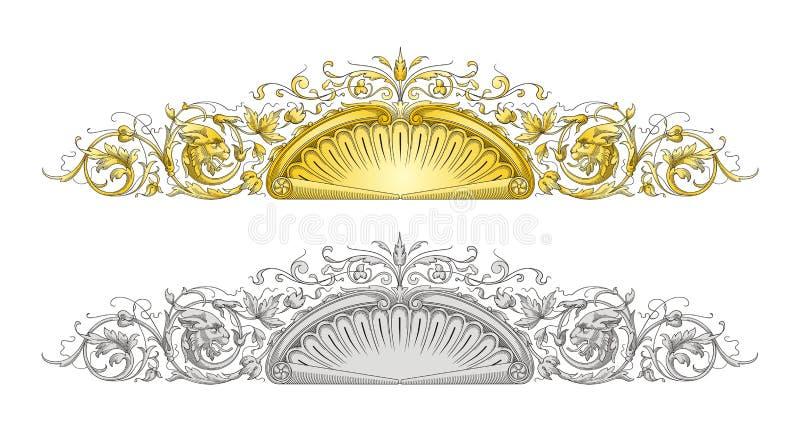 Smok ramy ornament ilustracja wektor