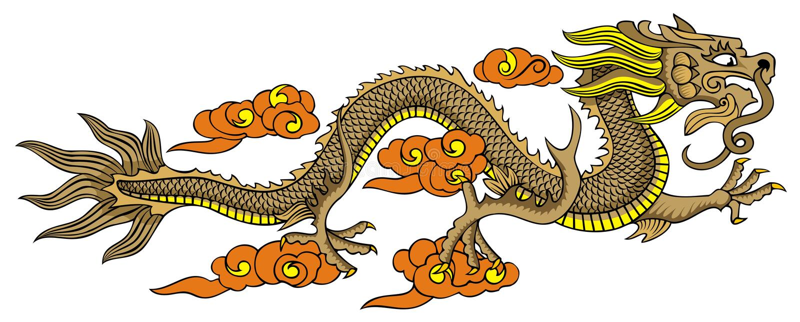smoka chiński latanie royalty ilustracja