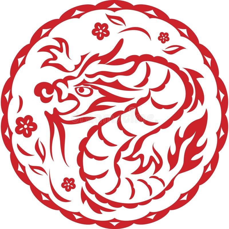 smoka chiński rok ilustracja wektor
