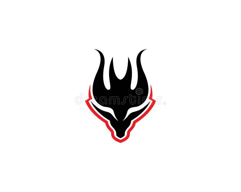 Smoka logo kierowniczy szablon royalty ilustracja