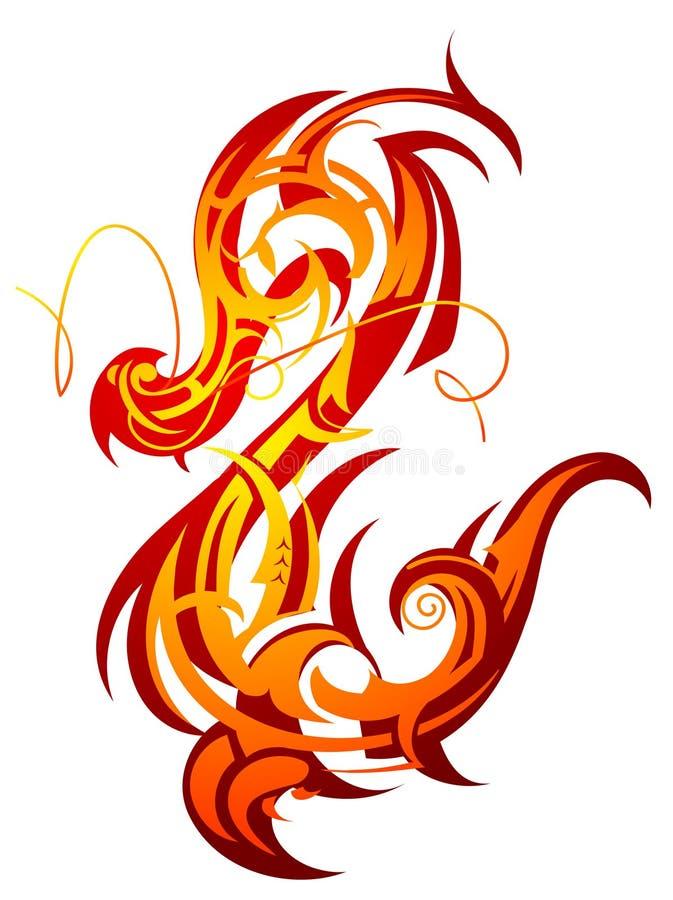 smoka ogień ilustracja wektor
