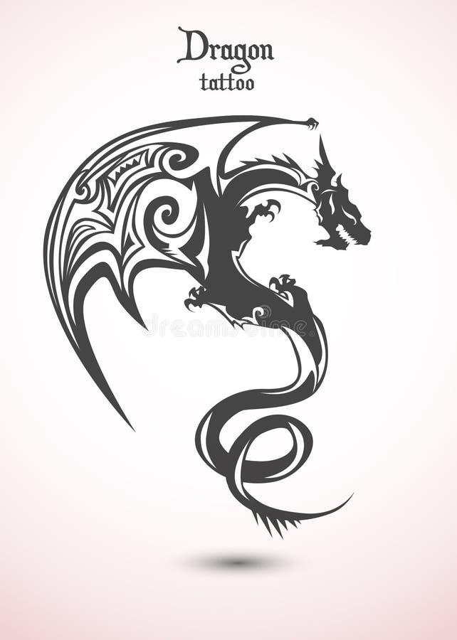 Smoka tatuaż royalty ilustracja
