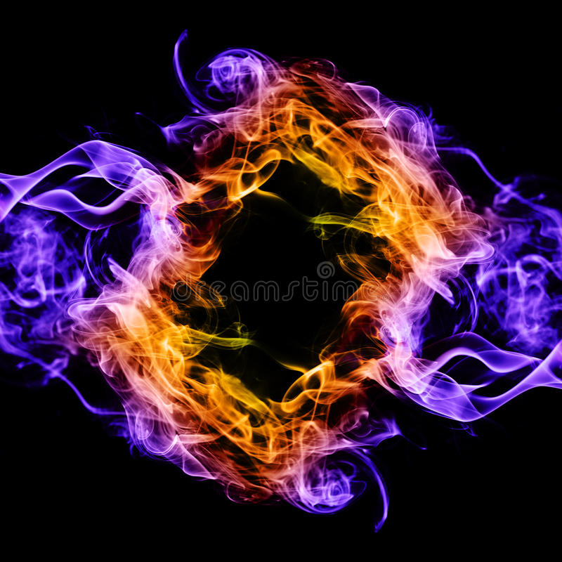 Smoke abstract. Abstract multi colored smoke puff isolated on white stock images
