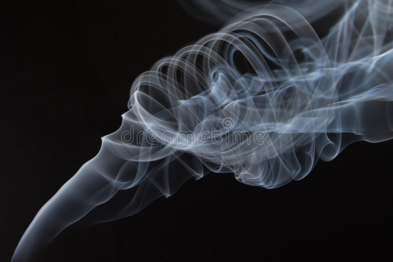Smoke abstract. Abstract Smoke with black background stock image